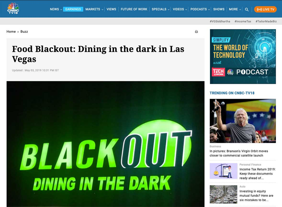 Food Blackout: Dining in the dark in Las Vegas